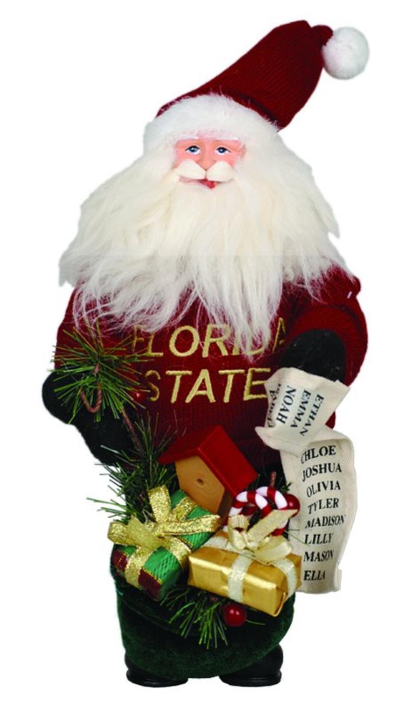 10'' NCAA Florida State Seminoles Gift Bearing Santa Christmas Table Top Figure