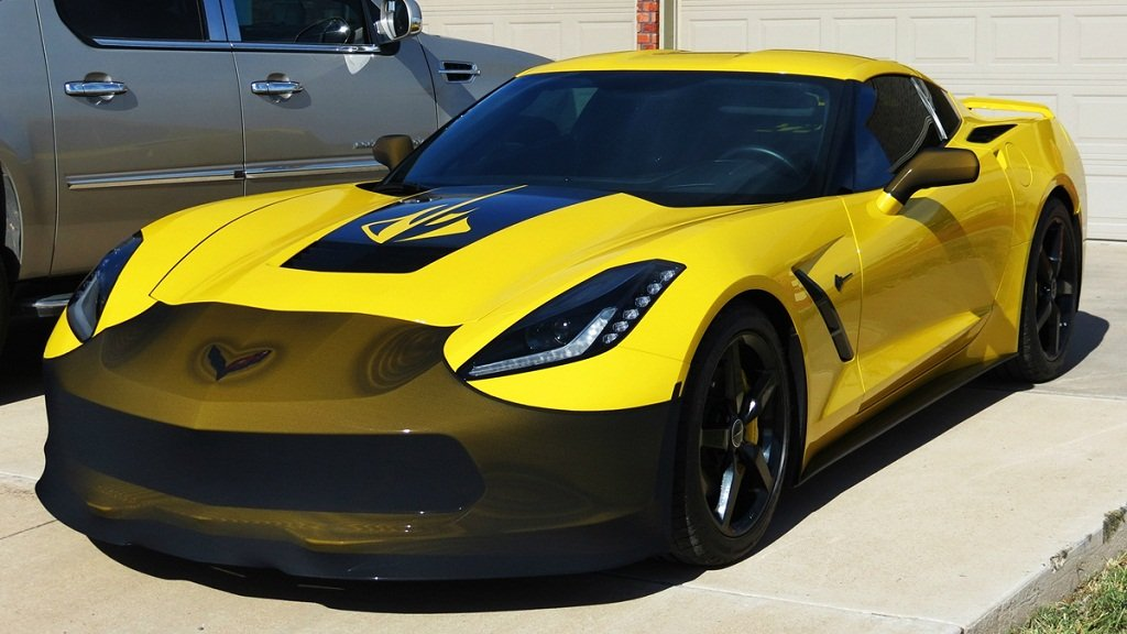 ZO6 and Grand Sport FBM750V-2 C7 Corvette Stingray NoviStretch Front Bra High Tech Stretch Mask Fits C7 2014 and Newer Corvettes Including The Z51