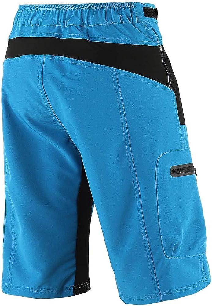 Lixada Mens Cycling Shorts Quick Drying Mountain Bike Sport Shorts