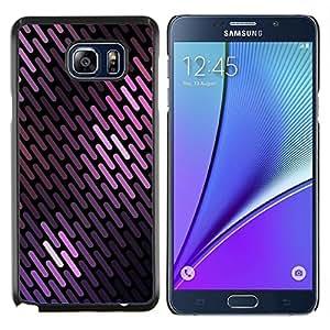 Colores púrpuras líneas modelo escamas negras- Metal de aluminio y de plástico duro Caja del teléfono - Negro - Samsung Galaxy Note5 / N920