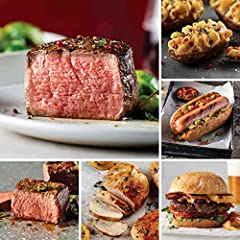 Featuring world-famous Omaha Steaks filet mignons, beefy top sirloins, versatile chicken breasts, juicy burgers, gourmet-style franks, and delicious stuffed baked potatoes, the Omaha Steaks Birthday Celebration Combo is packed with family-ple...