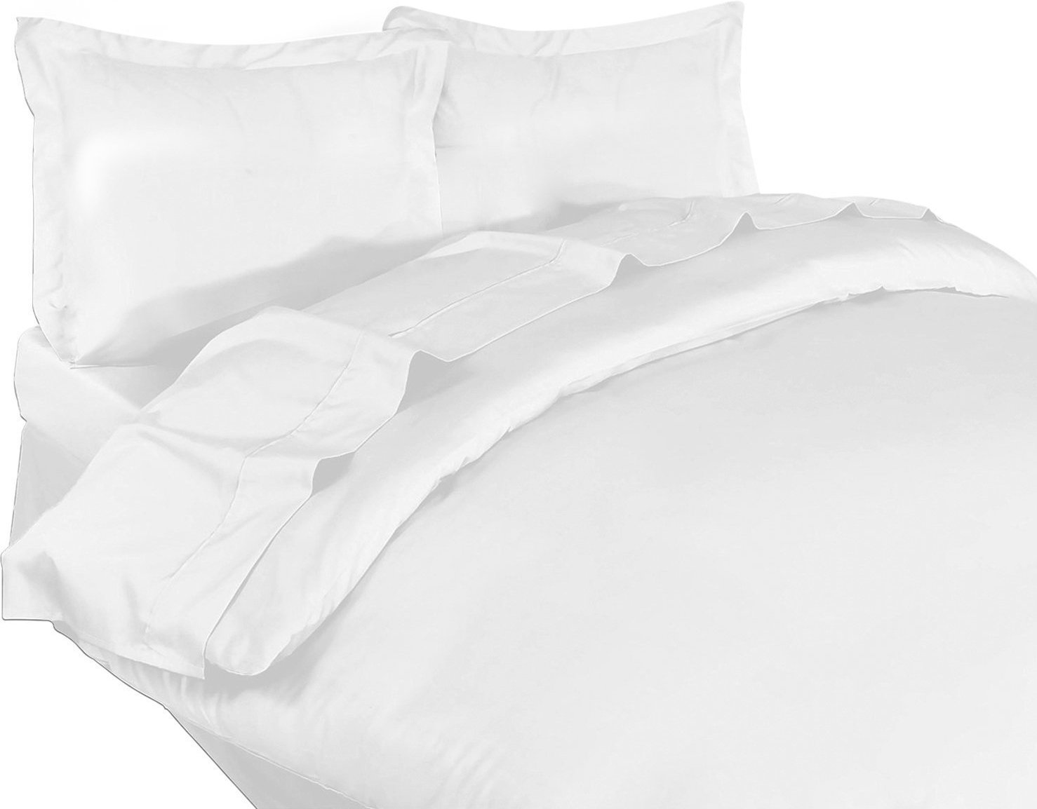 3 Piece Duvet Cover Set Queen, White