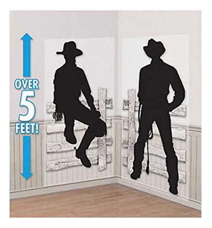 Amazon.com: WESTERN COWBOY Scene Setter Wild West Party Wall ...
