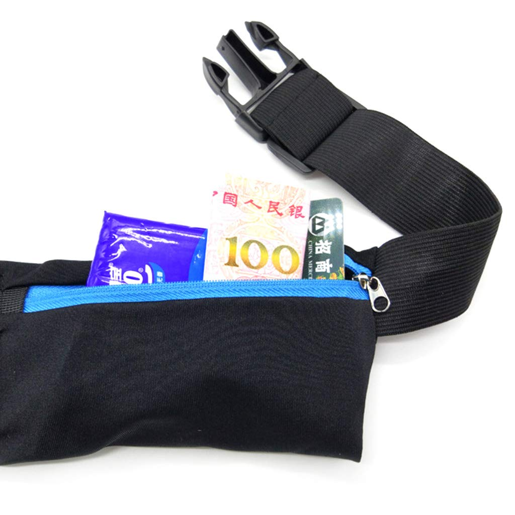 Hot Pink VIccoo Dual Pocket Running Belt Phone Pouch Waist Bag Sports Travel Fanny Pack for Jogging Cycling Outdoors