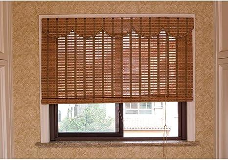 LJA Outdoor Blackout Roller Blind Bamboo Curtain, a Prueba de Agua ...