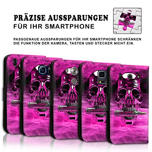 Wallet Book Style Flip Handy Tasche Case Schutz Hülle Schale Motiv Etui für Apple iPhone 6 Plus / 6S Plus - Design Flip MVD293