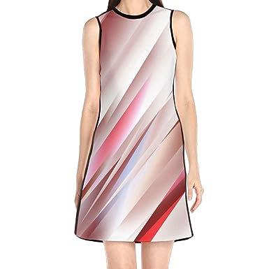 Hakalala Dress Womens Dresses Straight Red Lines Spring Dresses
