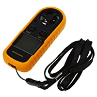 SODIAL (R)Handheld Digital LCD Wind Speed Meter Thermometer Anemometer for Surf Sailing