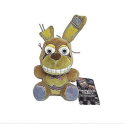 FNAF Five Nights at Freddy's Plush Bonnie Bonnet Toy Bonnie Springtrap Plush Stuffed Toys Doll Brown: Clothing