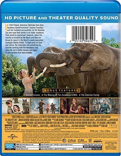 The Zookeeper's Wife [Blu-ray]