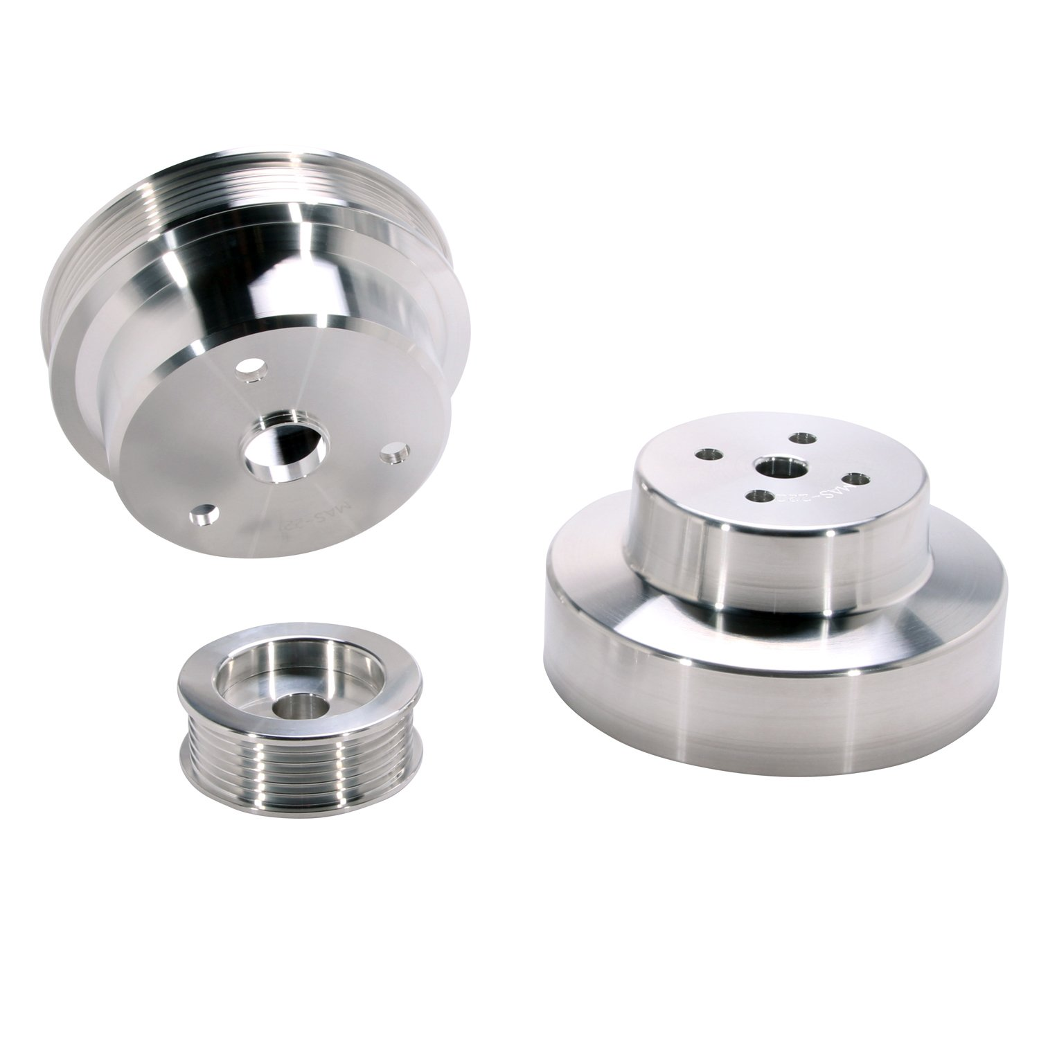BBK 1603 Underdrive Pulley Kit for GM Truck 4.3/5.0/5.7L - 3 Piece CNC Machined Aluminum by BBK Performance (Image #2)