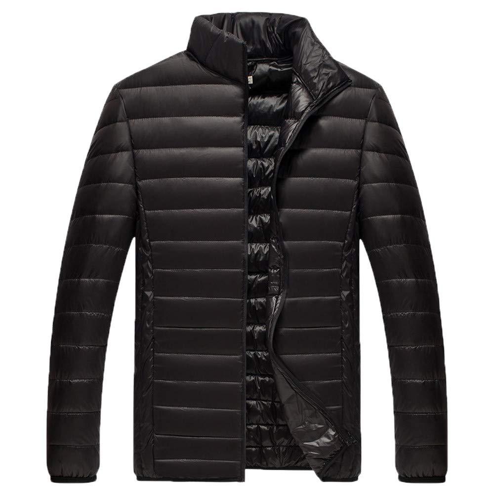 Men Winter Coat Sale Thin Slim Foldable Stand Collar Lightweight Cotton Down Jacket
