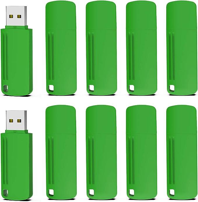 Pen Drive 16GB 2.0, KOOTION Memoria USB Pendrive Flash Drive, Pack de 10 Unidades Pen USB Stick, Set 10 Piezas de Pen Drives, Verdes: Amazon.es: Electrónica