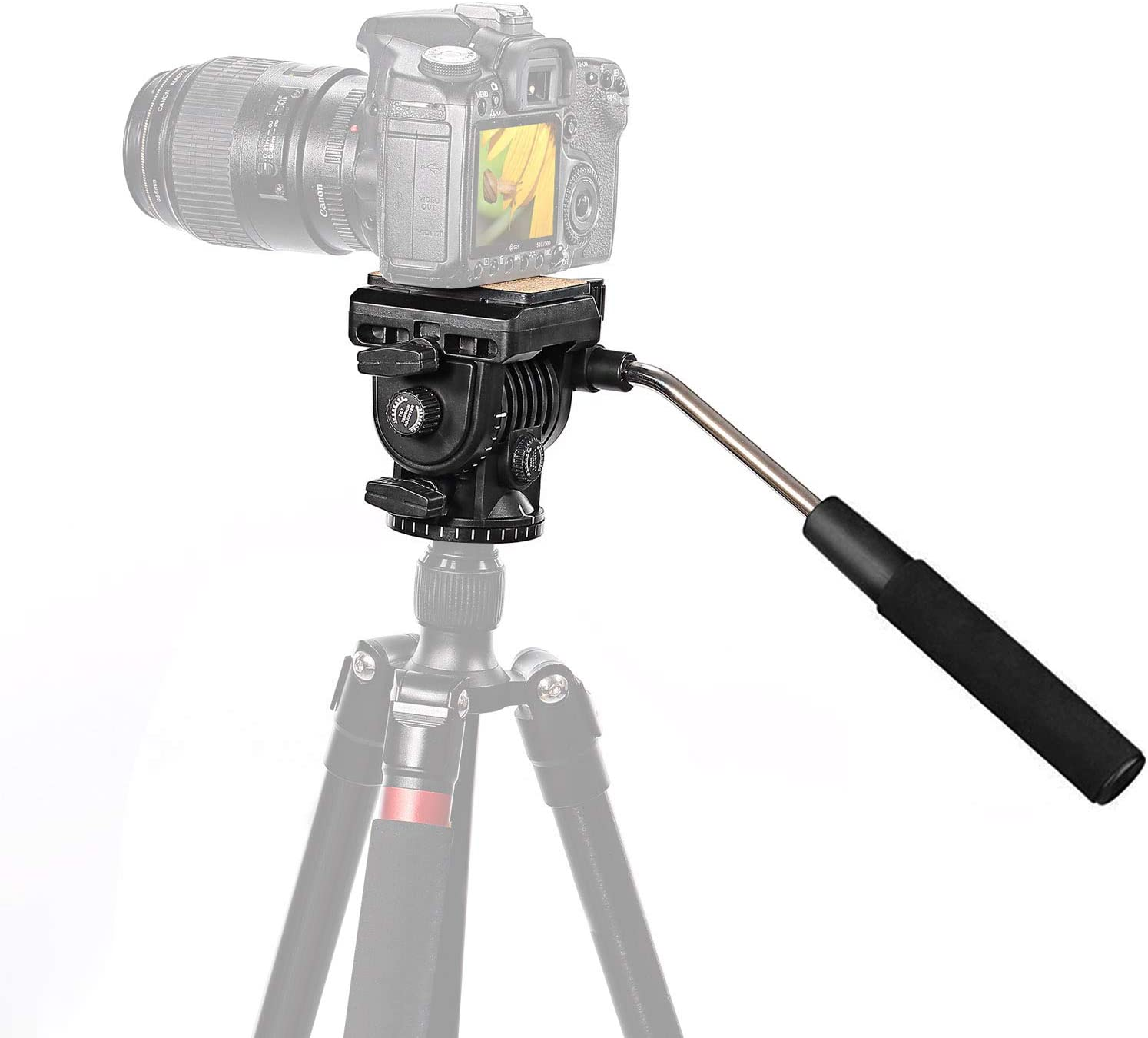 Neewer Fluid Videokopf Videoneiger Stativkopf Kugelkopf Kamera