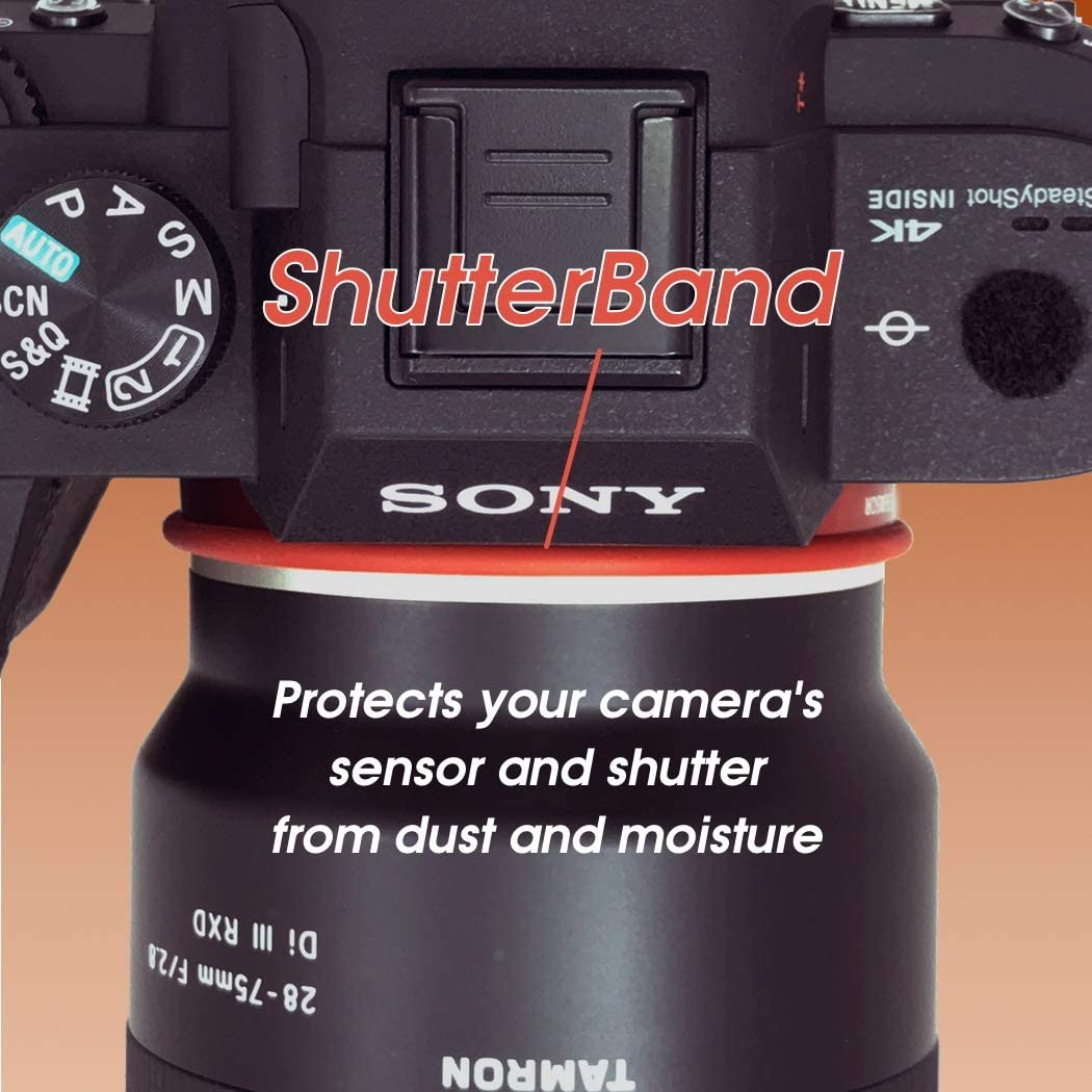 ShutterBands ButtonBumps for Sony E-Mount fits Sony a9, a7RIII, a7III, a7RII, a7SII, a7II, a7, a7R, a7S, a6500, a6300, a6000, a5000, NEX Series