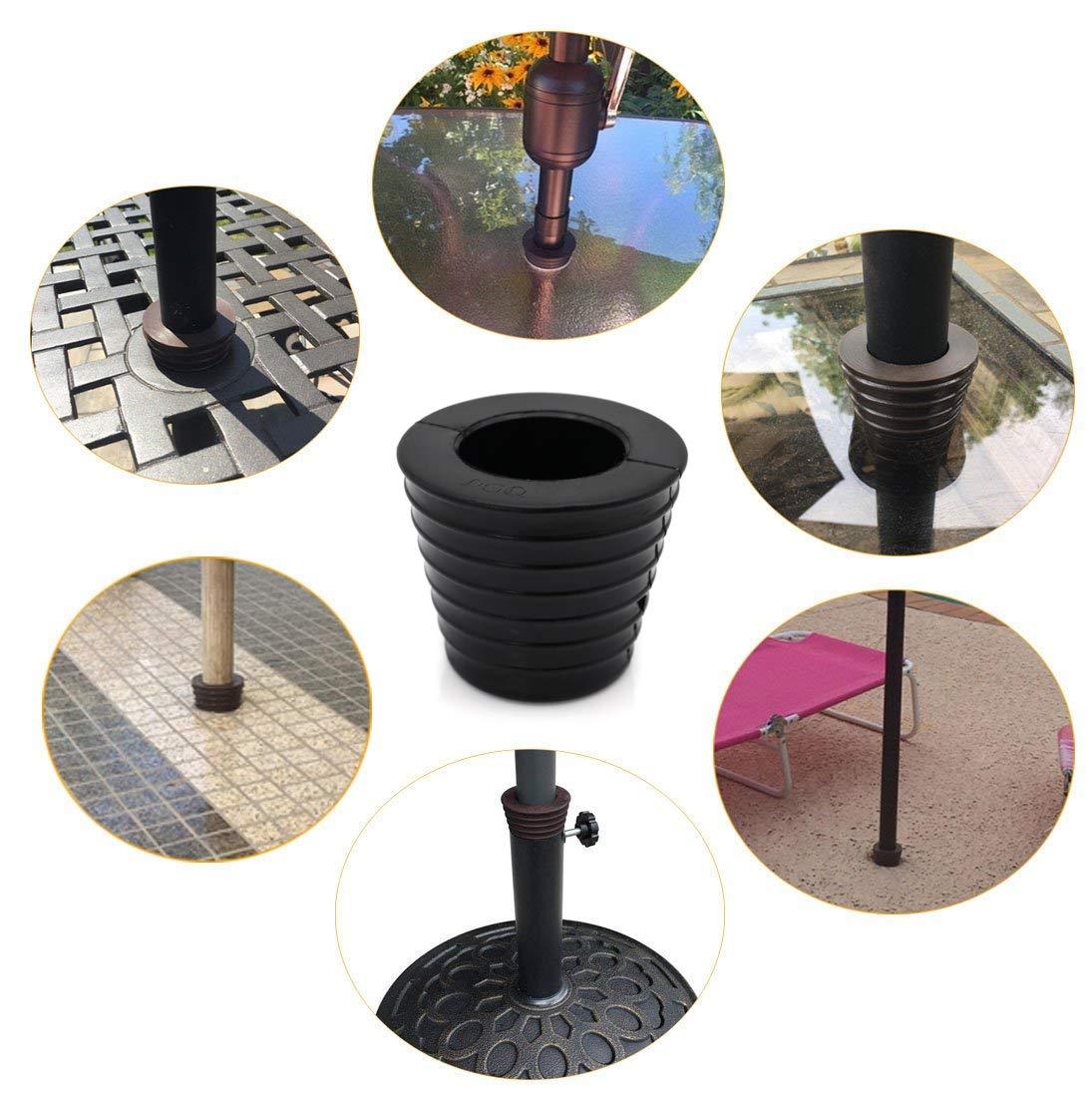 DGQ Patio Umbrella Cone Umbrella Wedge Plug Fits 1.5 Umbrella for Patio Table Hole Opening 2.5 Inch /… Black