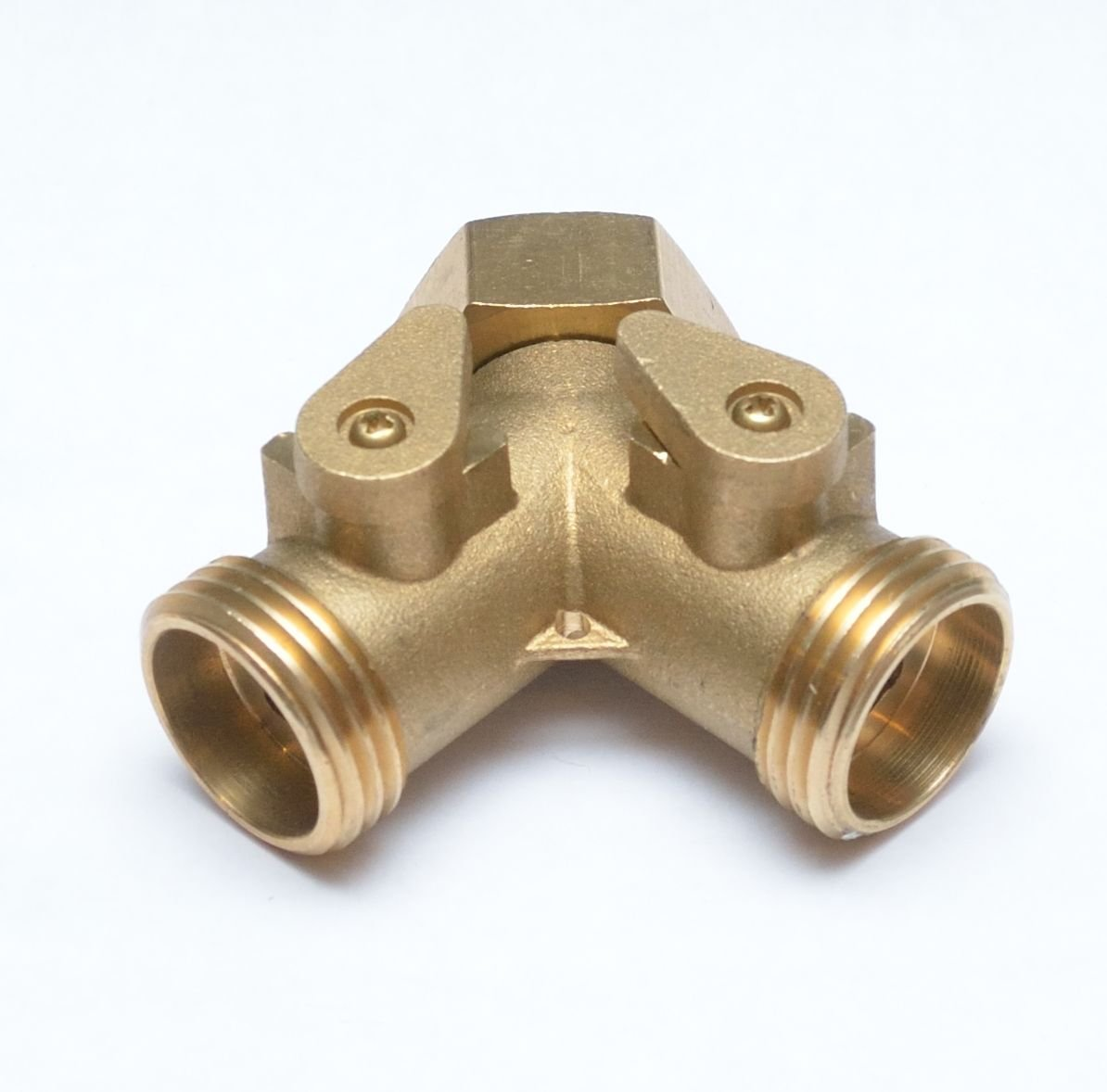 New 3/4'' Female GHT Washing Machine/Laundry Sink Y WYE Water Splitter Valve Pipe Reducer Adaptor Fitting Union POWER Welding Garden Gas Tool by GenericBrassAC