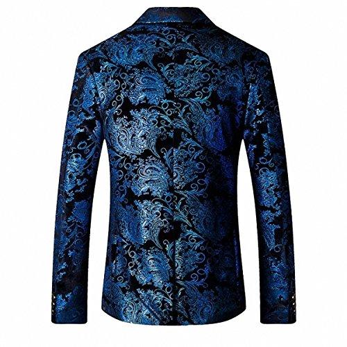 Cérémonie Homme Veste Manteau De Bleu Gomy Blazer Doré 71tAqqvw