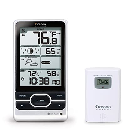 amazon com oregon scientific advanced wireless weather station with rh amazon com  oregon scientific bar206a manual