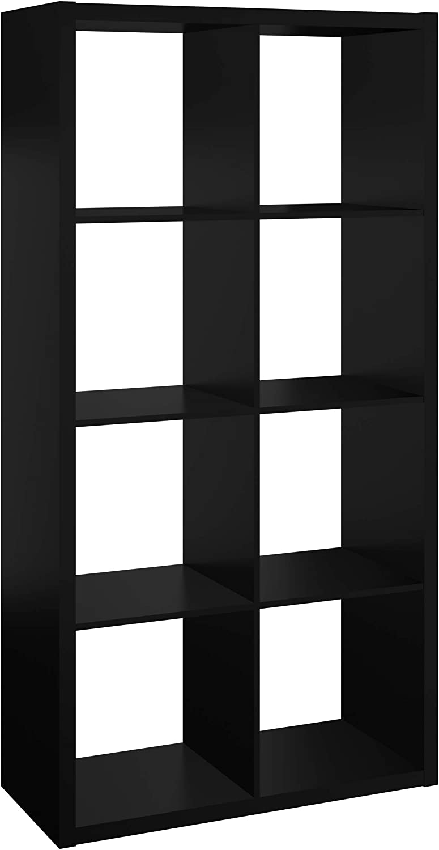 ClosetMaid 4587 Decorative Open Back 8-Cube Storage Organizer, Black