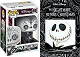 Day of The Dead Jack Skellington & Tim Burton The Nightmare Before Christmas Animated Movie DVD with Funko Pop! collectible character pack