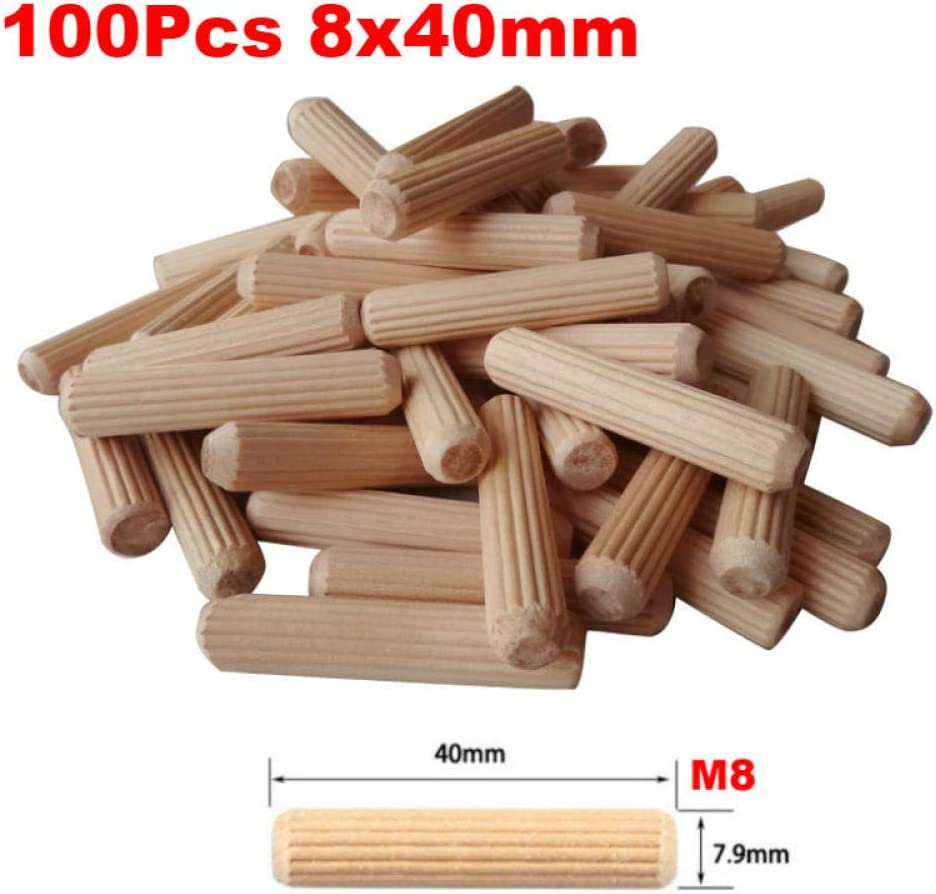 New Dowel Jig 6 8 10mm Wood HSS Drill Woodworking Jig ABS Plastic Pocket Hole Jig Drill Guide Tool for Carpentry-1 Set 100pcs 8x40mm