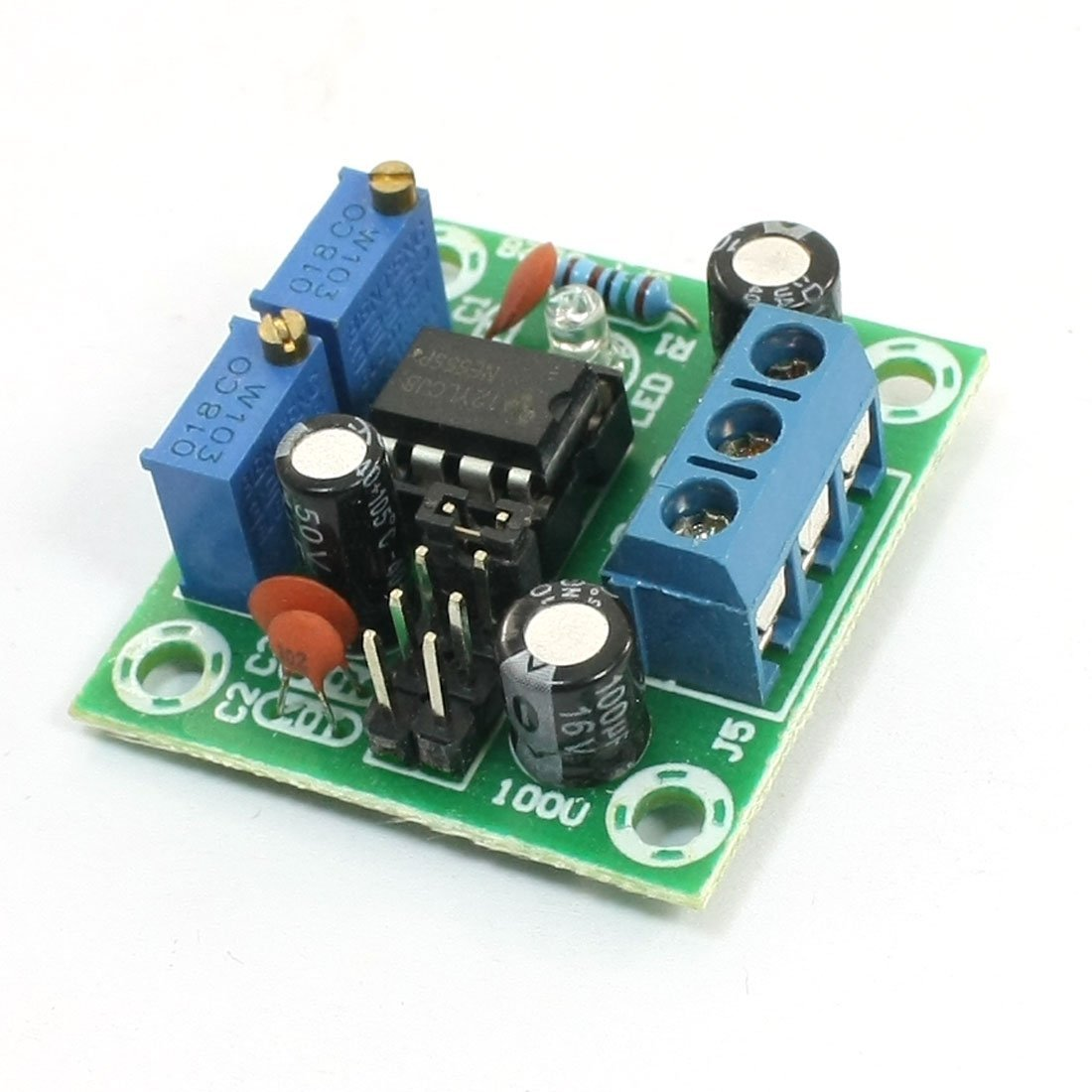 Uxcell A13100900ux0307 Square Wave Signal Generator Ne555 Pulse Wiring 555 Ic As A Oscillator For Two Led Flasher Application Module W Indicator 5 15v Industrial Scientific