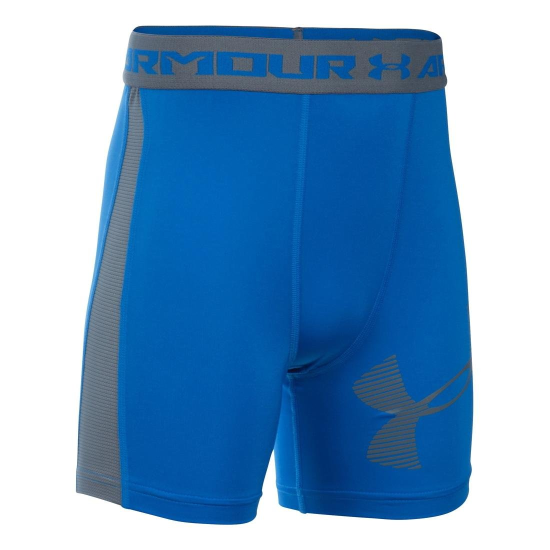 Under Armour Boys ' UA HeatGear Armour Up fitted-mid XL (18-20 Big Kids) Ultra Blue/Graphite B018S8ZH9E