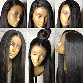 Human Hair Wigs for Black Women Normal Yaki Wigs Gleuless Full Lace Wigs Brazilian Human Hair Wigs with Baby Hair Virgin…
