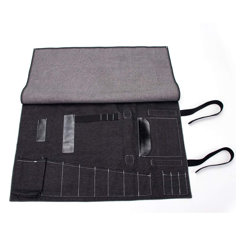 Bartender Kit Roll Up Bag, Cocktail Bar Tool Set Storage Pouch, Big Barware Tool Set Case Bag, Bar Tool Bag, Professional Bartender Tools Tote Carrier, Practical Cocktail Equipment Roll Up Pouch