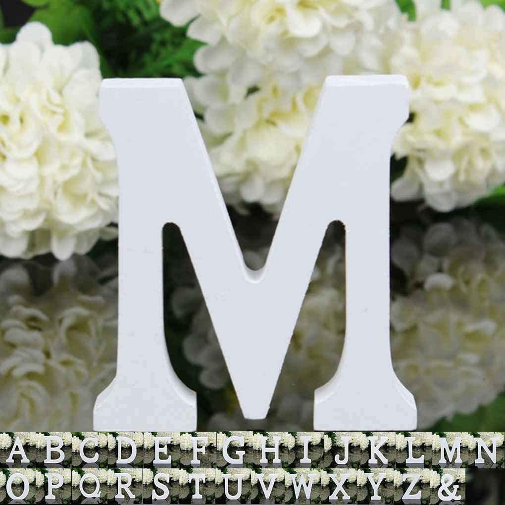 Morza 26 Gro/ße Holzbuchstaben Alphabet Wandbehang Hochzeit Home Shop Dekoration