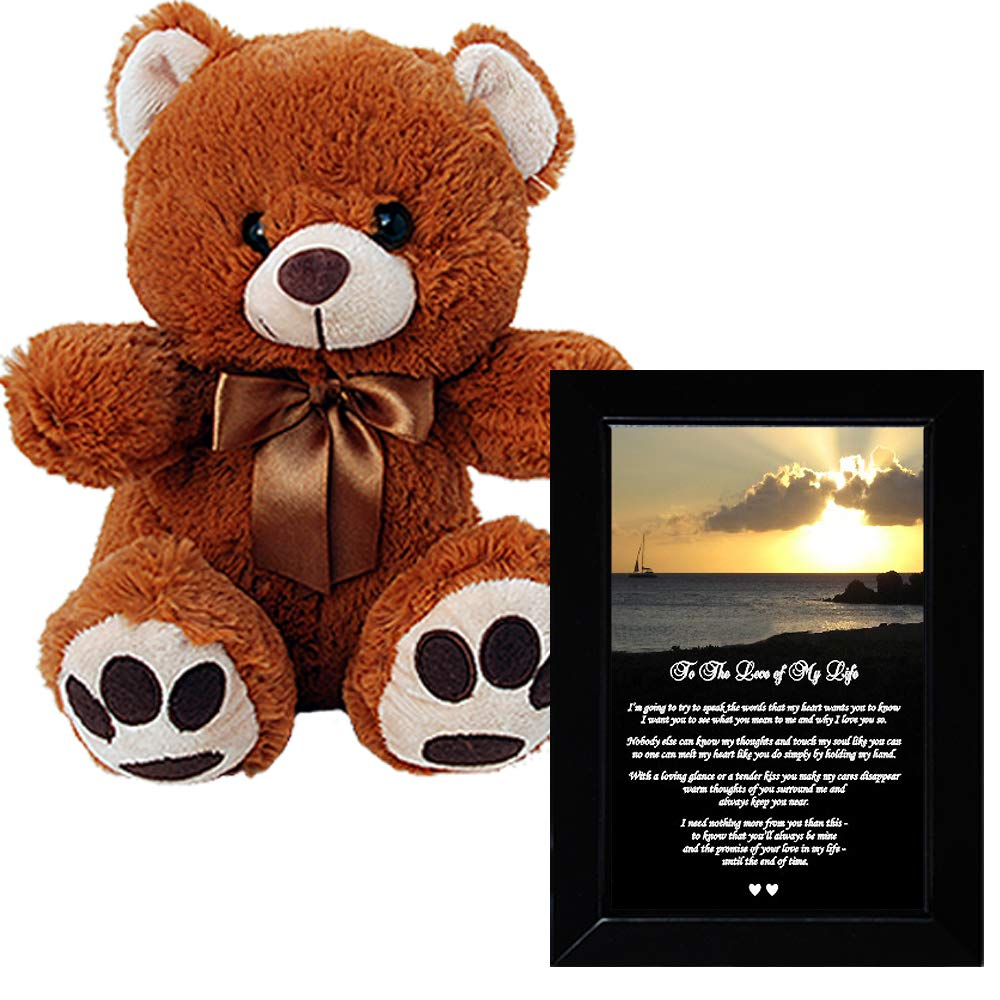 Romantic Gift for Him or Her - Heartfelt I Love You Poem and Teddy Bear by Poetry Gifts