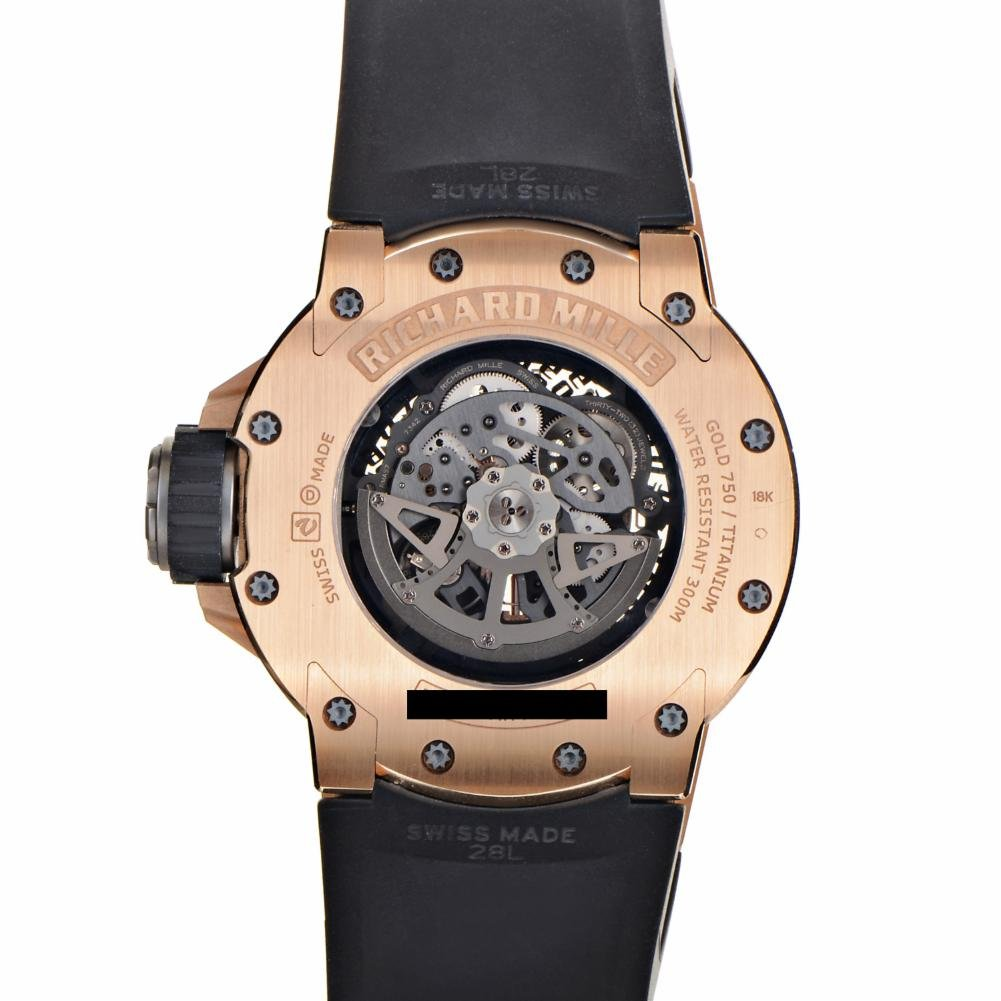 Richard Mille automatic-self-wind Negro Reloj para hombre RM028 AK RG (Certificado de segunda mano): Richard Mille: Amazon.es: Relojes