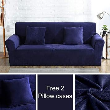 Amazon.com: BERTERI Soft Plush Sofa Cover for Living Room ...
