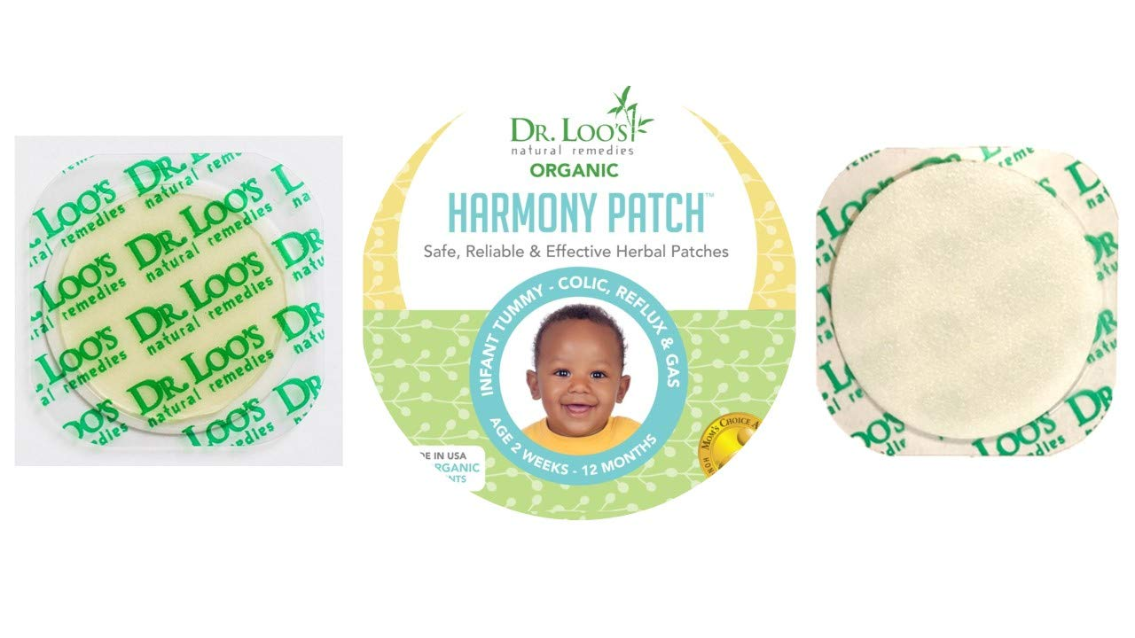Dr. Loo's NATURAL REMEDIES Organic Herbal Sticker Patches for Colic, Reflux, Gas and Constipation for Infants 2 weeks-12 Months, 9 Patches by Dr. Loo's NATURAL REMEDIES