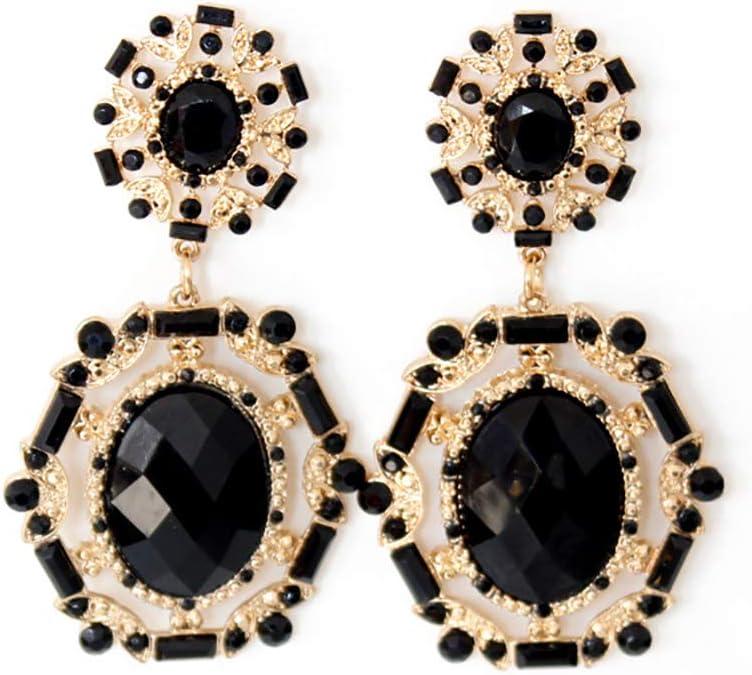 Blingbling_M Modelos Grandes Pendientes De Piedras Preciosas Colgante De Cristal De Circón Cúbico Pendientes Largos De Borla con Encanto