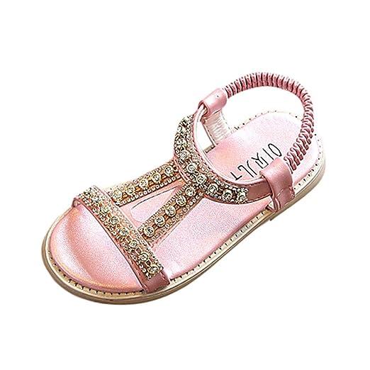 Sandalias bebe niño niña Xinantime Verano Sandalias para bebés Sandalias de playa Crystal Zapatos de princesa
