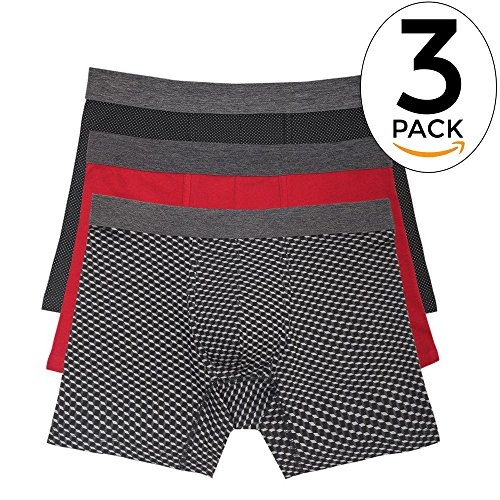 - Basic Outfitters 3-Pack Geo Print Boxer Briefs For Men In Stretch Jersey (L)