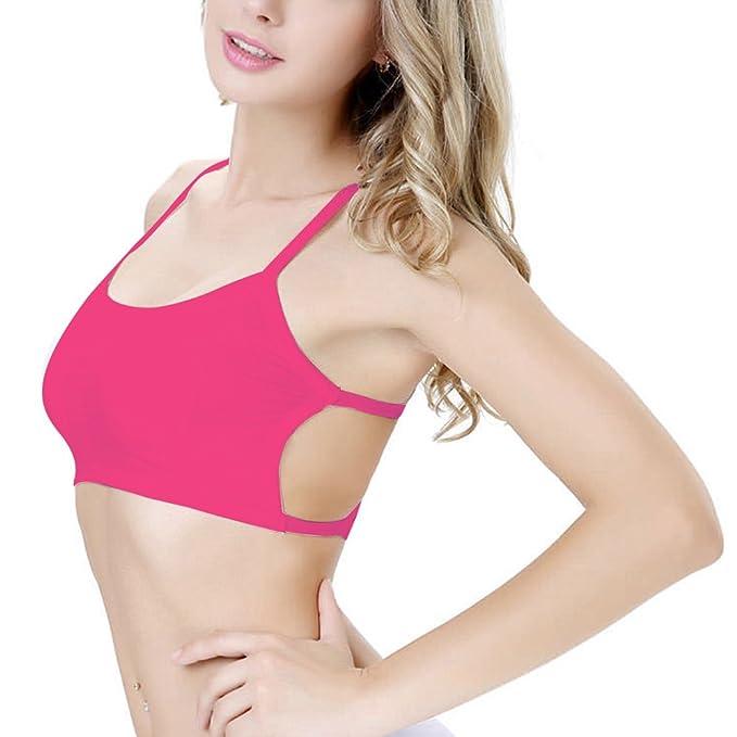 Sujetador push up isassy® bandolera-Sujetador de deporte para mujer Bra- Sujetador sin