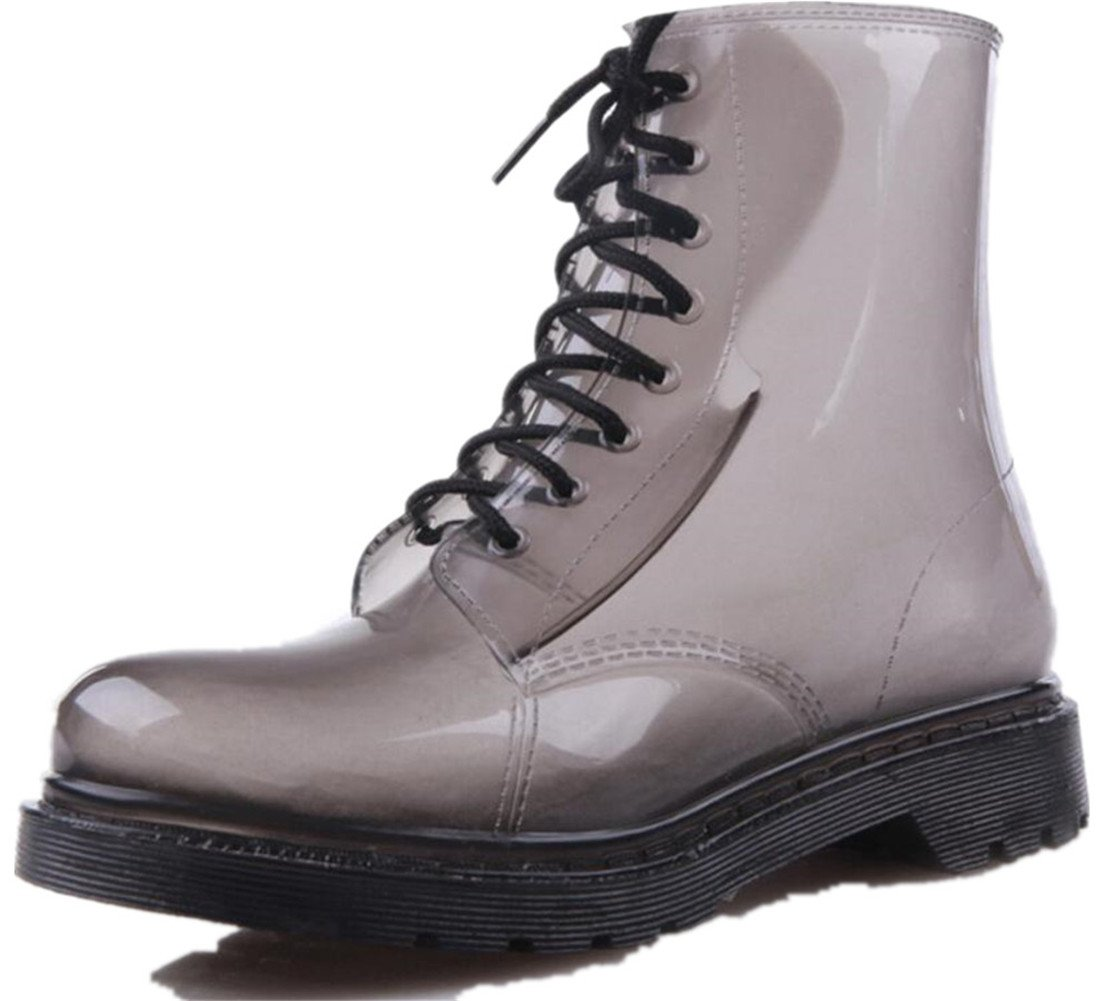 SATUKI Adult Men's Antiskid Short Rubber Water Resistant Work Shoes Rain Boots (9)