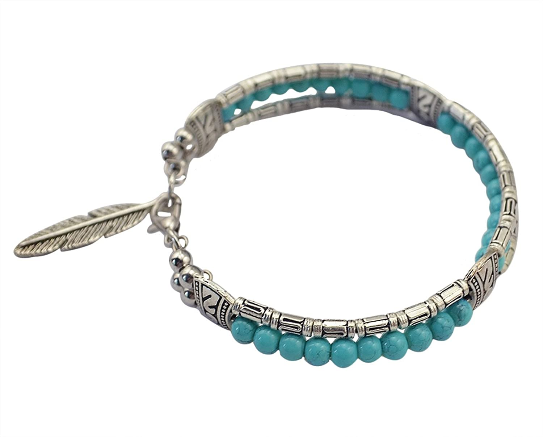 Idealway Vintage Turquoise Colorful Bracelet Image 1
