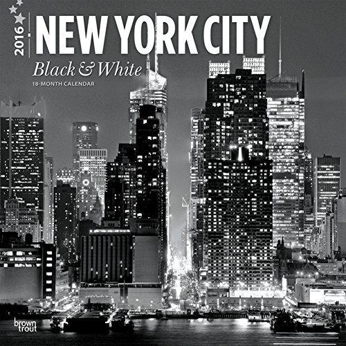 New York City Black & White - 2016 Calendar 12 x 12in