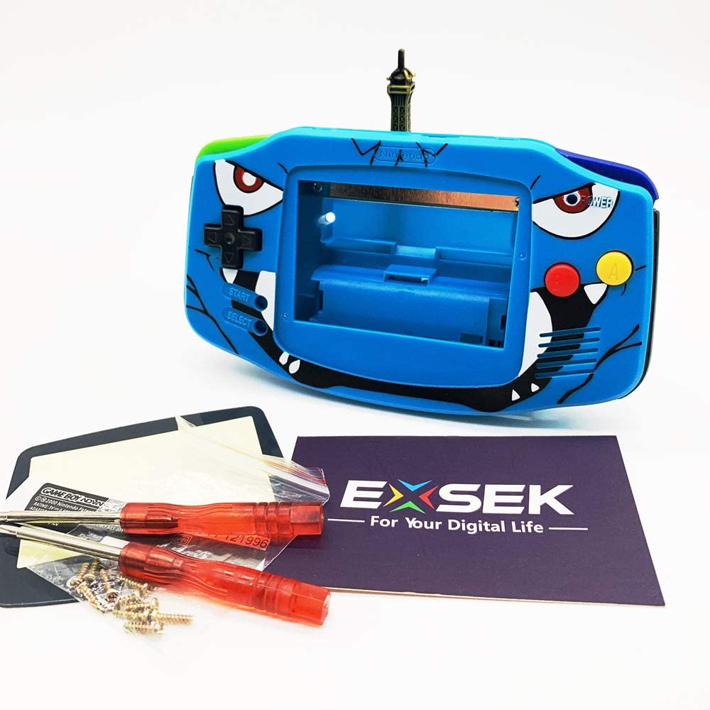 EXSEK Limited GBA Housing Shell Pack Compatible with Gameboy Advance (Blue Venu)