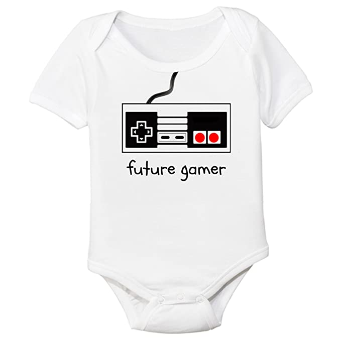 Amazon Com The Spunky Stork Future Gamer Organic Cotton Baby