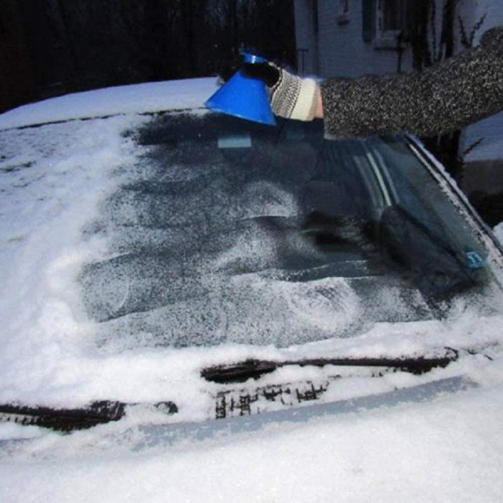 Vosarea Conical Snow Removal Automobile Windshield Snow Remover Rear View Mirror Deicing Tool
