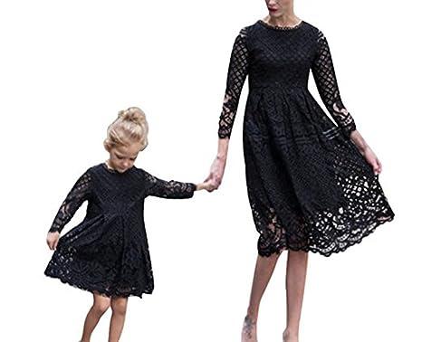 huateng Mutter Tochter passendes Kleid Frau Mädchen Kleid Baby ...