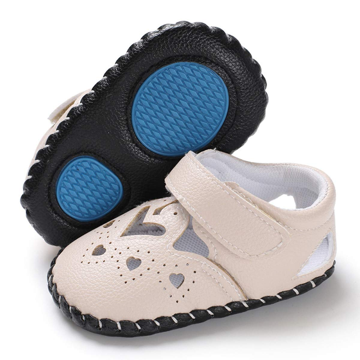 BENHERO Infant Baby Girls Summer Sandas Soft Leather Mary Jane Flats No-Slip Princess First Walking Crib Shoes
