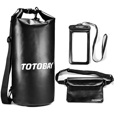 d1f90830b13 TOTOBAY Waterproof Bag Waterproof Bag Dry Bag 10l 20L 30L Waterproof Pack  Sack Dry Bag Waterproof Case for Boating Canoeing Swimming Walking Skiing  ...