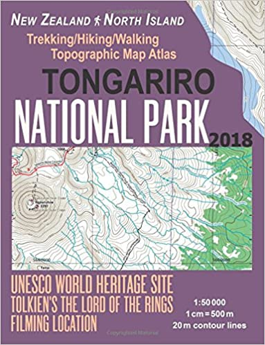 Tongariro National Park Trekking Hiking Walking Topographic Map