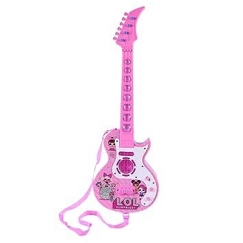 Mecotech Guitarra Electrica Niño, 4 Cuerdas Guitarra Juguete Eléctrica con Luces LED de Color y 8 Música: Amazon.es: Juguetes y juegos
